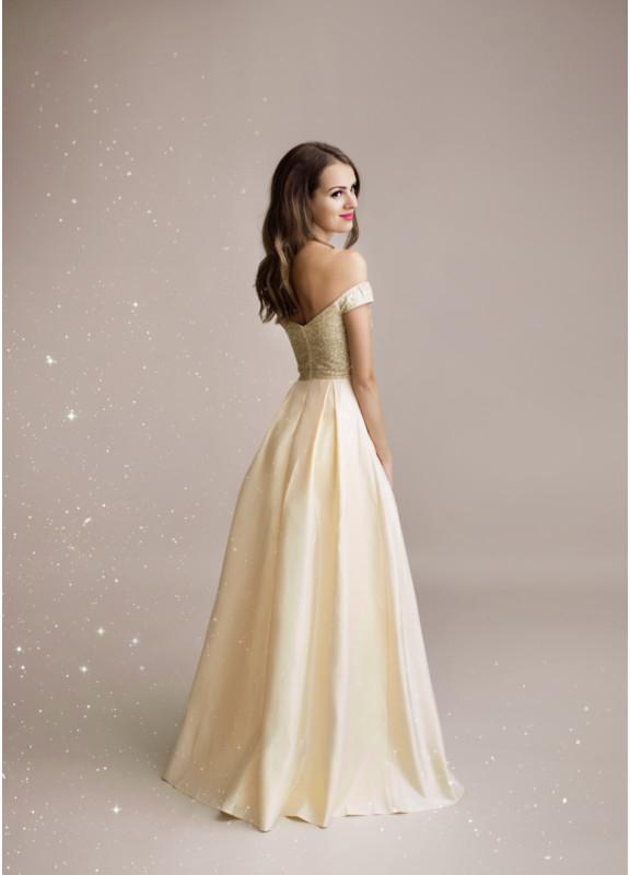 38eec3e62e8 Plesové šaty Eva   Lola společenské šaty Auréline světle zlatá ...