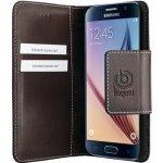 Pouzdro Bugatti Amsterdam Book Samsung Galaxy S6 hnědé