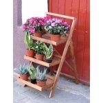 Tradgard Dřevěný poličkový schůdkový květináč hnědý R02694