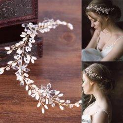 2c3e107ca7b B-TOP Luxusní svatební ozdoba do vlasů CRYSTAL FLOWER - zlatá bílá ...