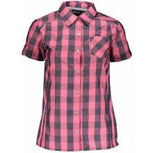 ALPINE PRO LURINA dámská košile s krátkým rukávem LSHJ011 růžová