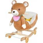 ISO plyšový houpací jezdící medvídek 2v1 hnědý