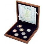 Česká mincovna Sada oběžných mincí 2018 proof dřevěná etue 456 g