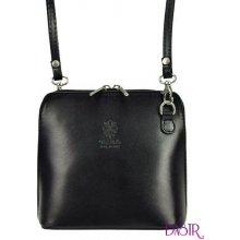 265e506763 kožená malá dámská crossbody kabelka černá
