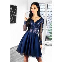 Dámské společenské krátké šaty Elina modrá plesové šaty - Nejlepší ... 30c78ae4a6