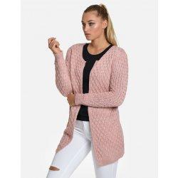 90ab12455843 Calzanatta 8056 Dámské pletené kardigany se vzorem Pudrově růžová ...