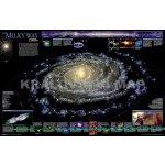 Mléčná dráha (Milky Way) - nástěnná mapa - laminovaná mapa s 2 lištami 77d92bb69d