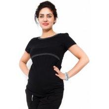 Be MaaMaa těhotenské a kojící triko Aldona černá
