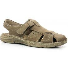 HILBY 051 olive, pánské sandály