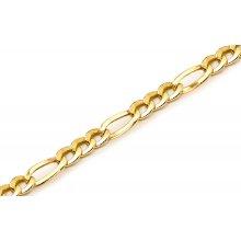 Náramek zlatý pánský Figaro KOBR180