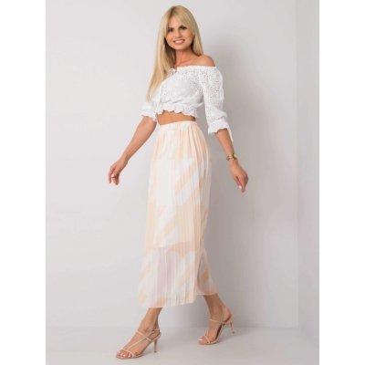 Skládaná sukně se vzory béžová