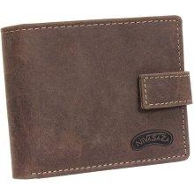 Kožená peněženka Nivasaža N119-HNT-BR hnědá