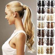Culík - cop vlnitý, 57 cm se suchým zipem a omotávkou, mnoho odstínů - m27/613 - mix blond