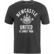 NUFC Newcastle United Graphic T Shirt Mens Charcoal Marl