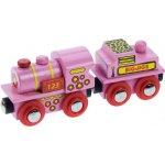 Vláček dřevěné vláčkodráhy Bigjigs Vlak pro princezny