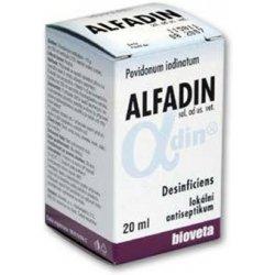 Alfadin roztok je neštípavá dezinfekce na rány u psů a koček
