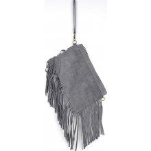 kabelka z pravé broušené kůže 81 Grey