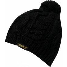 Golddigga Cable Hat Ladies Black Ladies