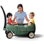 Step2 Vozík pro 2 děti zelený