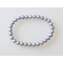 Náramek Klenota perlový z šedých perel sil034