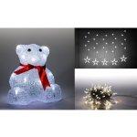 Marimex Sada LED osvětlení (Medvěd + světelný řetěz hvězdy + světelný řetěz 100 LED - studená bílá) - 19900054
