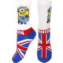 E plus M Chlapecké ponožky Mimoni - modro-bílé