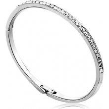 Swarovski Elements náramek CHANNEL SILVER rhodiovaná ocel, čiré krystaly OI_305008_silvery