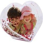 MCprint Sněžítko tvar srdce - 1x potisk, dárek pro zamilované k Valentýnovi