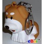Přívěsek na klíče Blikací vydávající zvuk zvířátko pes pejsek 2