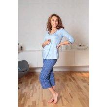 mateřské pyžamo odkvetlá pampeliška kapri tříčtvrteční modrá