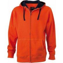 4d4003a900d James   Nicholson Pánská mikina Lifestyle Zip-Hoody Oranžová tmavá Modrá  námořní