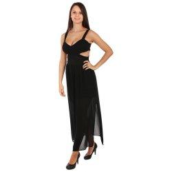 TopMode dlouhé šaty s průstřihy na bocích černá od 599 Kč - Heureka.cz 06300edf8d