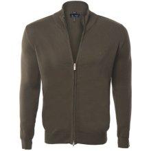 Armani Jeans elegantní svetr na zip od Khaki
