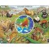 Puzzle MAXI - Zvířata Asie/90 dílků - neuveden