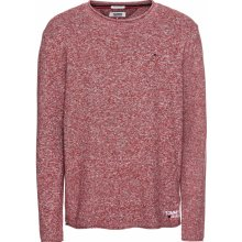 Tommy Jeans Pulovr 'TJM TWISTED SWEATER' červená