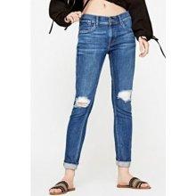 Pepe Jeans JOEY ECO Modrá Boyfit džíny s vyšším pasem 4e6413ff31