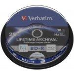 Verbatim BD-R 25GB 4x, M-Disc, printable, cakebox, 10ks (43825)
