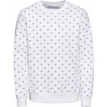 Calvin Klein Jeans Svetr 'MONOGRAM AOP CREW NECK' mix barev / bílá