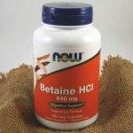 Now Foods Betaine HCl 120 kapslí