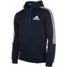 Adidas 3 Stripes Logo Over The Head Hoody Mens Navy/White