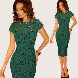 bb0651cde84 Pouzdrové krajkové šaty midi 80325641-3 zelená od 765 Kč - Heureka.cz