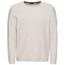 TOM TAILOR Pulovr 'structure mix sweater' krémová