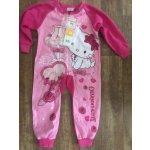 ea3ed000cdb3 Dívčí růžový fleecový overal pyžamo Kitty