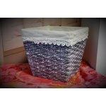 Prodomax Květináč keramický, šedý ratan 20x20x18 cm