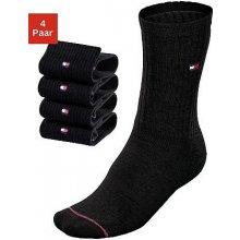 Tommy Hilfiger ponožky 4 páry černá