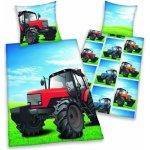 Herding bavlna povlečení traktor na louce 140x200 70x90