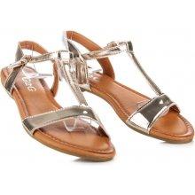 Krásně zlaté lakované sandály