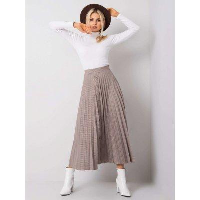 Plisovaná sukně s knoflíčky -254-sd-20648.48p brown