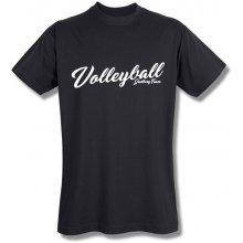 Style T Shirt Volleyball Černá