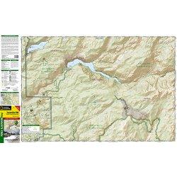 Yosemite Hetch Hetchy Reservoir národní park Kaliforine turistická mapa GPS ko